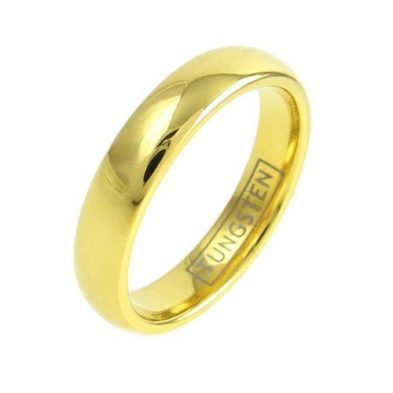 14k gold tungsten ring wedding band